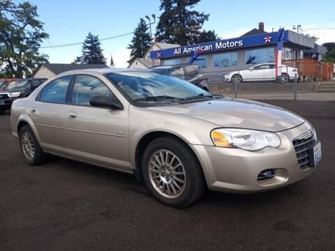 2005 Chrysler Sebring for sale at All American Motors in Tacoma WA