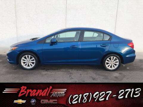 2012 Honda Civic for sale at Brandl GM in Aitkin MN