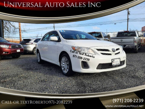 2012 Toyota Corolla for sale at Universal Auto Sales Inc in Salem OR