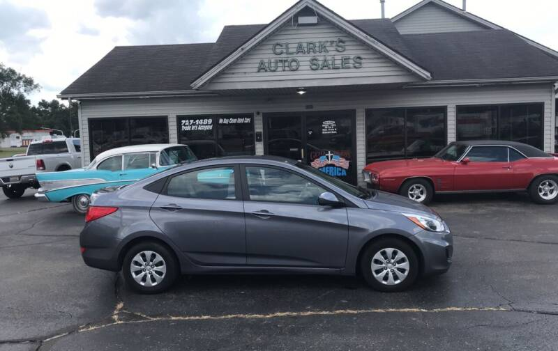 2017 Hyundai Accent for sale at Clarks Auto Sales in Middletown OH