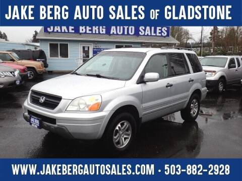2003 Honda Pilot for sale at Jake Berg Auto Sales in Gladstone OR