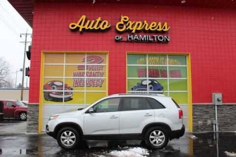 2012 Kia Sorento for sale at AUTO EXPRESS OF HAMILTON LLC in Hamilton OH