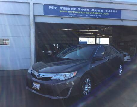 2013 Toyota Camry Hybrid for sale at My Three Sons Auto Sales in Sacramento CA