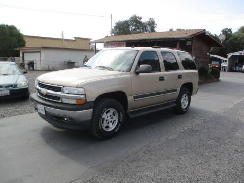 2005 Chevrolet Tahoe for sale at Manzanita Car Sales in Gridley CA