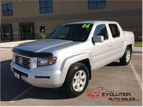 2006 Honda Ridgeline for sale at Evolution Auto Sales LLC in Springville UT