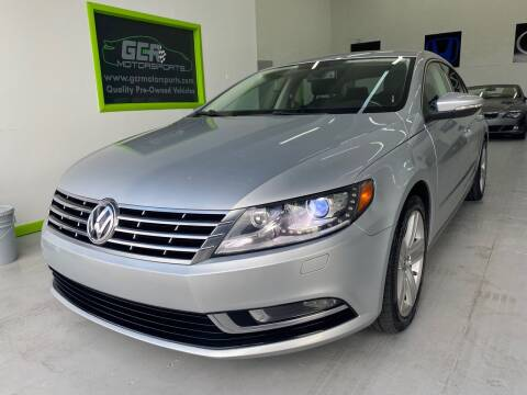 2015 Volkswagen CC for sale at GCR MOTORSPORTS in Hollywood FL