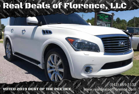 2011 Infiniti QX56 for sale at Real Deals of Florence, LLC in Effingham SC