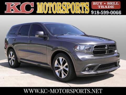 2014 Dodge Durango for sale at KC MOTORSPORTS in Tulsa OK