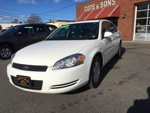 2008 Chevrolet Impala for sale at Cote & Sons Automotive Ctr in Lawrence MA