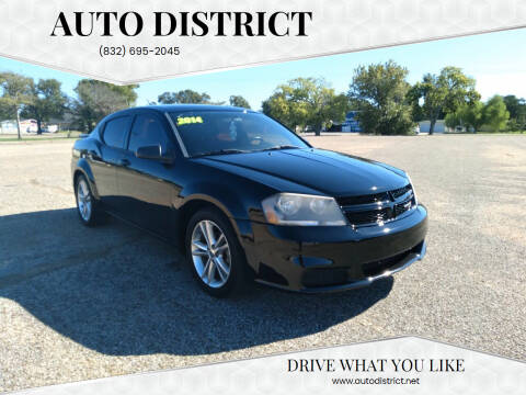 2014 Dodge Avenger for sale at Auto District in Baytown TX