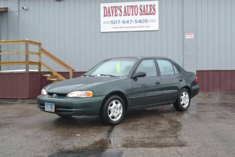 2000 Chevrolet Prizm for sale at Dave's Auto Sales in Winthrop MN