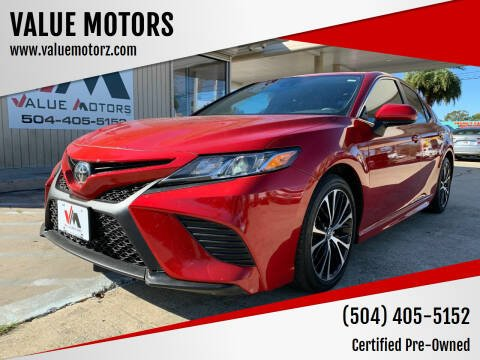 2019 Toyota Camry for sale at VALUE MOTORS in Kenner LA