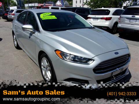 2016 Ford Fusion for sale at Sam's Auto Sales in Cranston RI