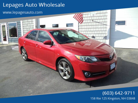 2012 Toyota Camry for sale at Lepages Auto Wholesale in Kingston NH