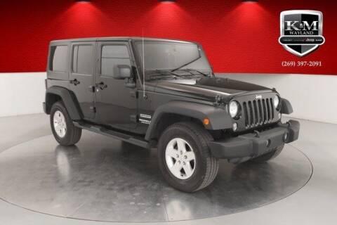 2015 Jeep Wrangler Unlimited for sale at K&M Wayland Chrysler  Dodge Jeep Ram in Wayland MI