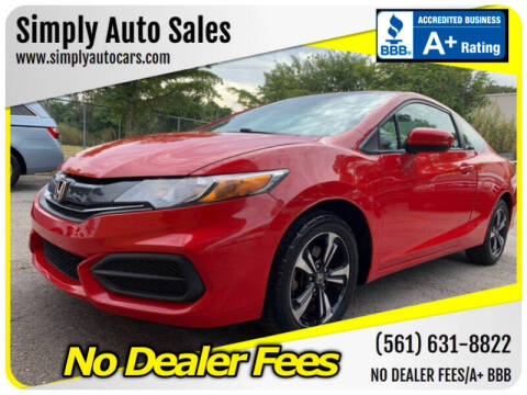 2015 Honda Civic for sale at Simply Auto Sales in Palm Beach Gardens FL