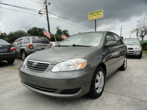2007 Toyota Corolla for sale at GREAT VALUE MOTORS in Jacksonville FL