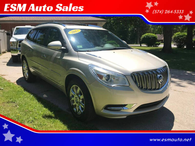 2013 Buick Enclave for sale at ESM Auto Sales in Elkhart IN