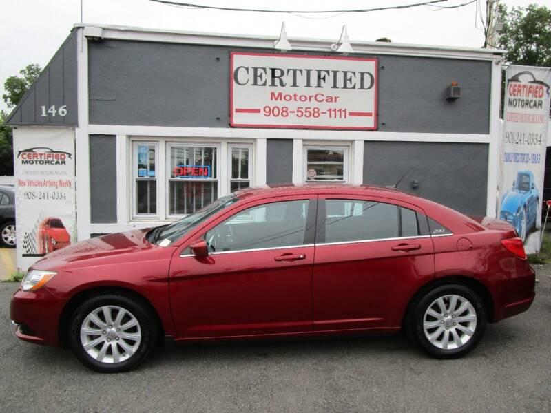 2013 Chrysler 200 for sale at CERTIFIED MOTORCAR LLC in Roselle Park NJ