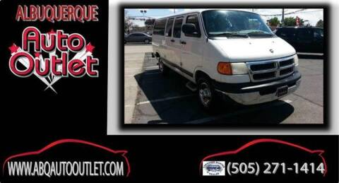 2000 Dodge Ram Wagon for sale at ALBUQUERQUE AUTO OUTLET in Albuquerque NM