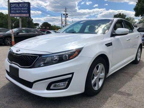 2015 Kia Optima for sale at Capital Motors in Raleigh NC