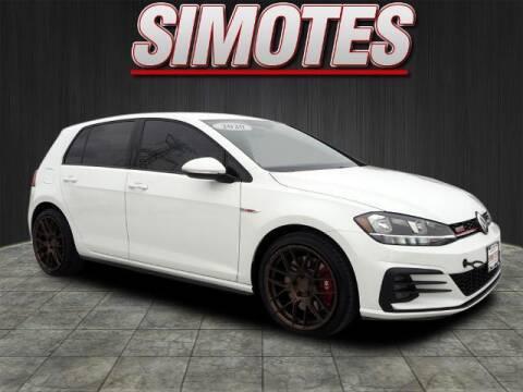 2020 Volkswagen Golf GTI for sale at SIMOTES MOTORS in Minooka IL