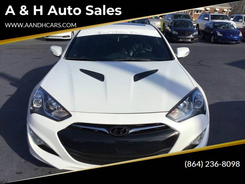 2013 Hyundai Genesis Coupe for sale at A & H Auto Sales in Greenville SC