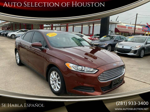 2016 Ford Fusion for sale at Auto Selection of Houston in Houston TX