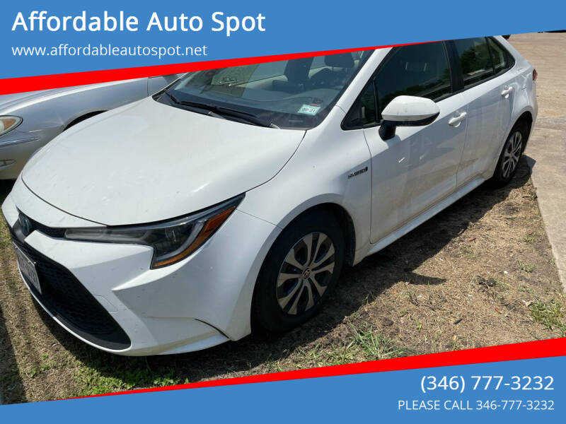 2021 Toyota Corolla Hybrid for sale at Affordable Auto Spot in Houston TX