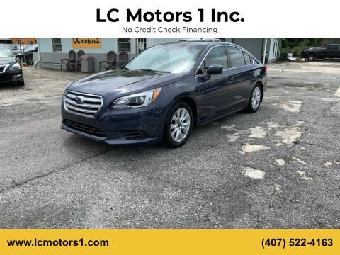 2016 Subaru Legacy for sale at LC Motors 1 Inc. in Orlando FL