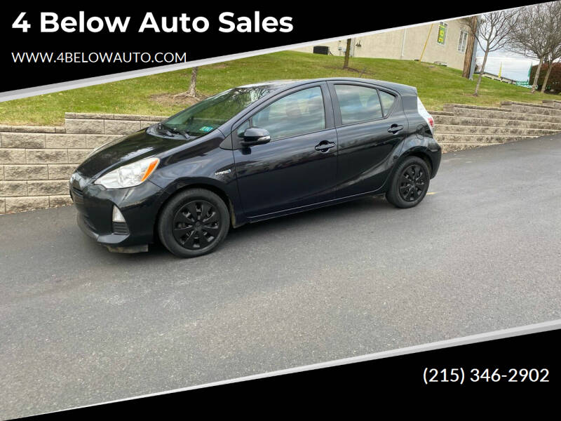 2013 Toyota Prius c for sale at 4 Below Auto Sales in Willow Grove PA