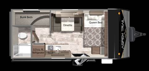 2021 ASPEN TRAIL 17BH for sale at Frontier RV Sales in Anchorage AK