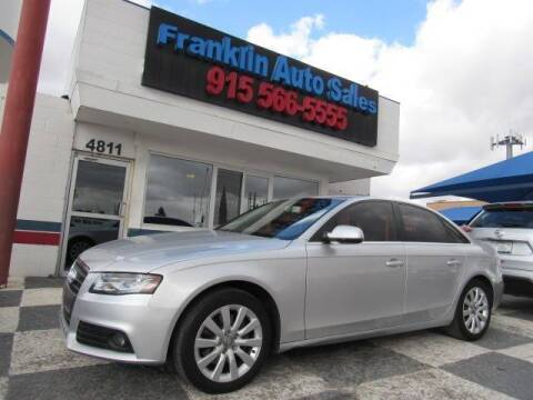 2012 Audi A4 for sale at Franklin Auto Sales in El Paso TX