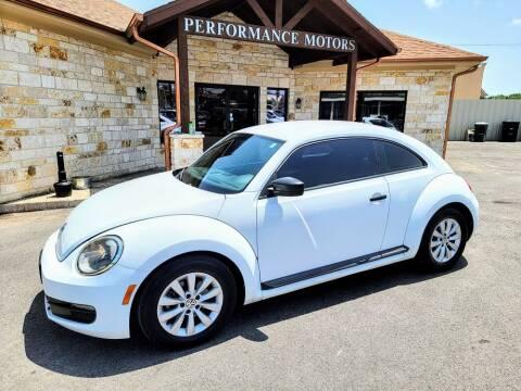 2015 Volkswagen Beetle for sale at Performance Motors Killeen Second Chance in Killeen TX