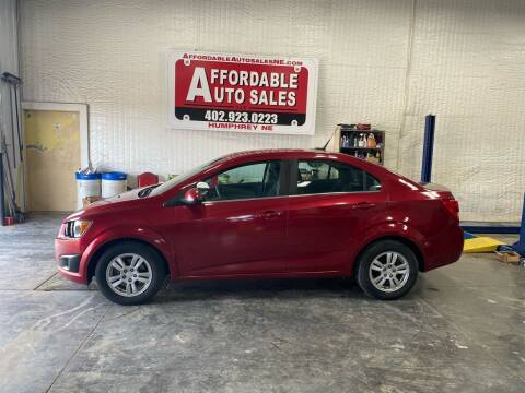 2013 Chevrolet Sonic for sale at Affordable Auto Sales in Humphrey NE