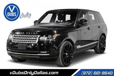 2016 Land Rover Range Rover for sale at VDUBS ONLY in Dallas TX