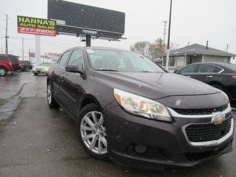 2015 Chevrolet Malibu for sale at Hanna's Auto Sales in Indianapolis IN