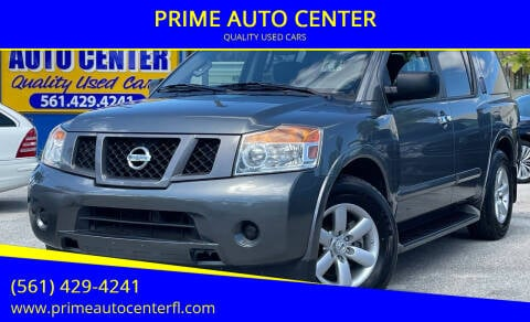 2014 Nissan Armada for sale at PRIME AUTO CENTER in Palm Springs FL