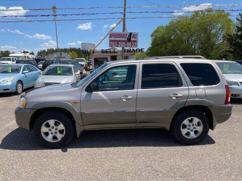 2002 Mazda Tribute for sale at Affordable 4 All Auto Sales in Elk River MN