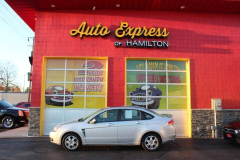 2008 Ford Focus for sale at AUTO EXPRESS OF HAMILTON LLC in Hamilton OH