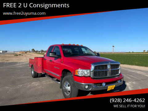 2005 Dodge Ram Pickup 3500 for sale at FREE 2 U Consignments in Yuma AZ