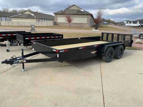 2021 H&H Solid Side Steel 8.5x16 #1587 for sale at Prairie Wind Trailers, LLC in Harrisburg SD