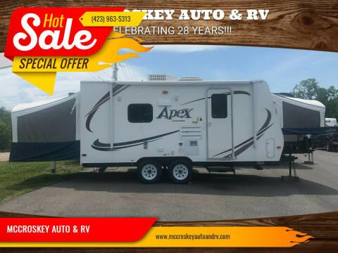 2013 Coachman Apex 17REX for sale at MCCROSKEY AUTO & RV in Bluff City TN