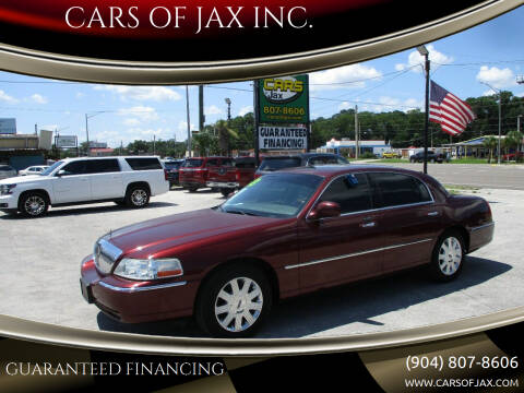 2003 Lincoln Town Car for sale at CARS OF JAX INC. in Jacksonville FL