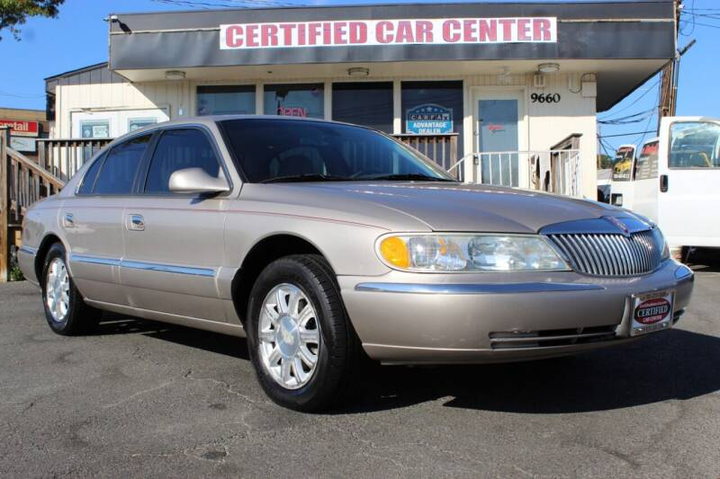 2002 Lincoln Continental for sale at CERTIFIED CAR CENTER in Fairfax VA