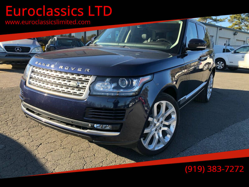 2014 Land Rover Range Rover for sale at Euroclassics LTD in Durham NC