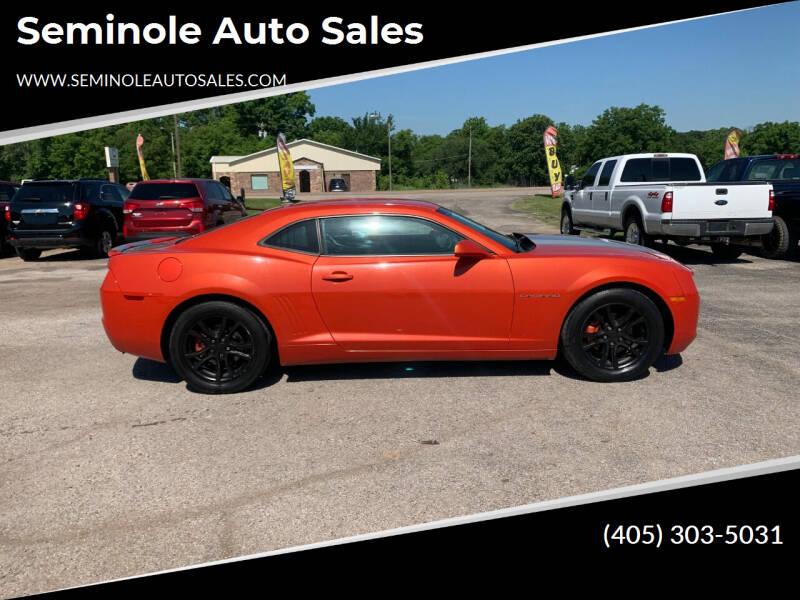 2012 Chevrolet Camaro for sale at Seminole Auto Sales in Seminole OK