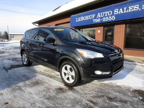 2013 Ford Escape for sale at LeBoeuf Auto Sales in Waterford PA