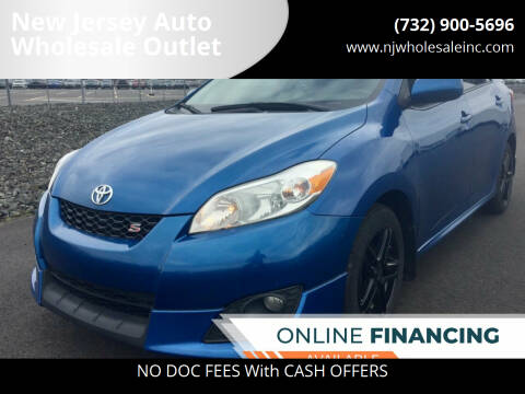 2009 Toyota Matrix for sale at New Jersey Auto Wholesale Outlet in Union Beach NJ