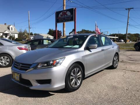 2013 Honda Accord for sale at JK & Sons Auto Sales in Westport MA